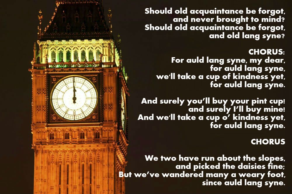 Do you know the words to Auld Lang Syne? (With images
