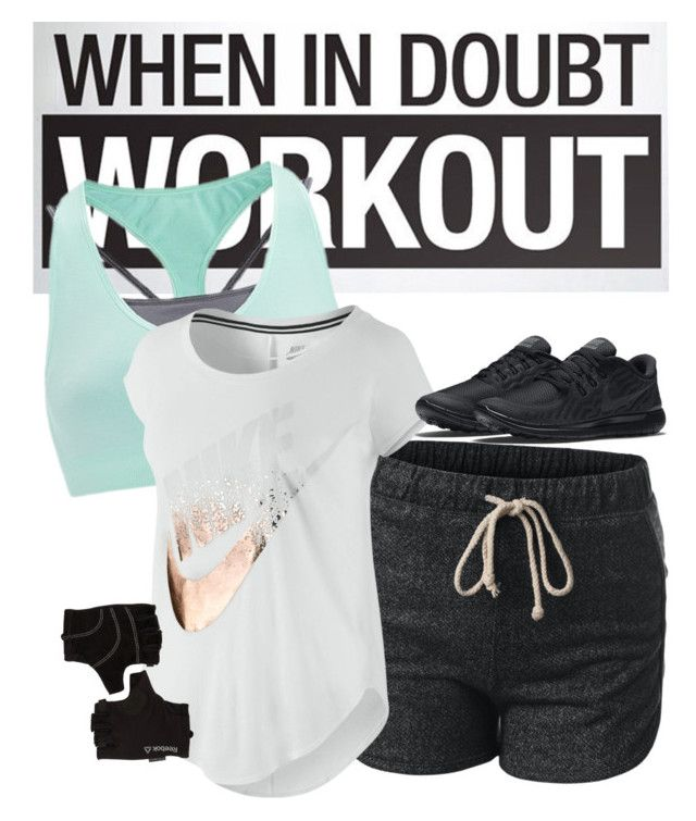 """""""New Year Reso."""" by lohan-kbug on Polyvore featuring NIKE and Reebok"""