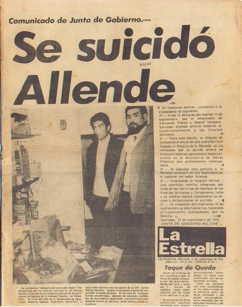 Portadas De La Prensa Nacional Y Extranjera Pre Y Post Hechos De La Historia 11 De Septiembre Chile Historia De America