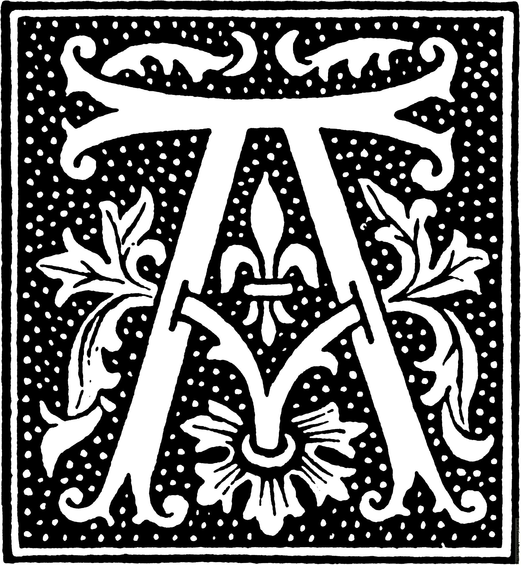 071 alphabet beginning of 16th century letter A 1812x1965