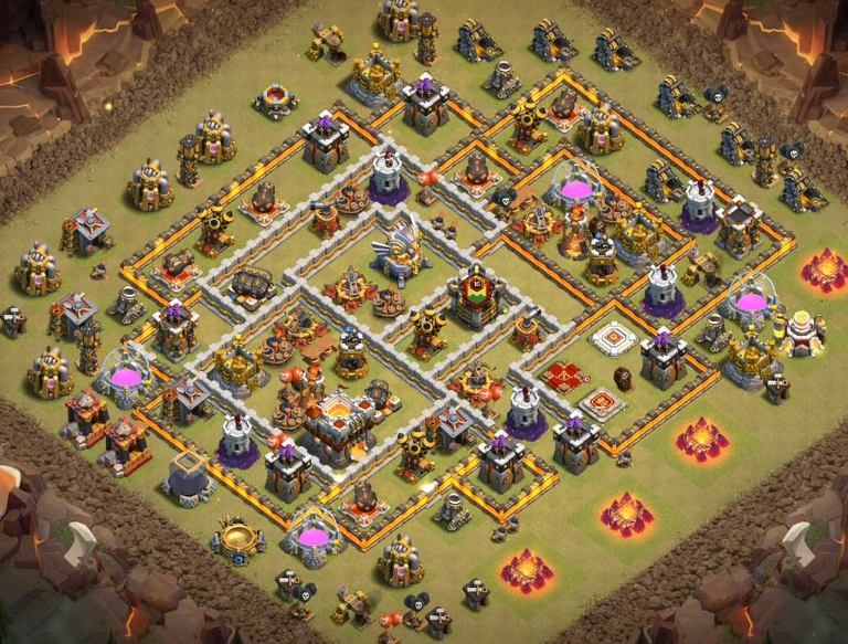 Base Coc Th 11 Terkuat War 8