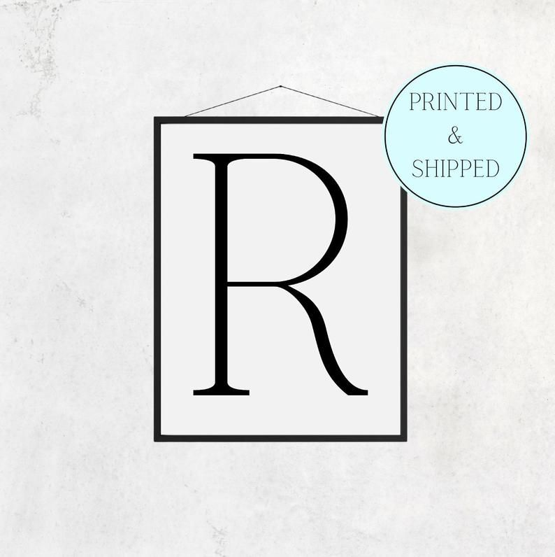 R Print Letter R Print Gifts for Him Christmas Alphabet   Etsy