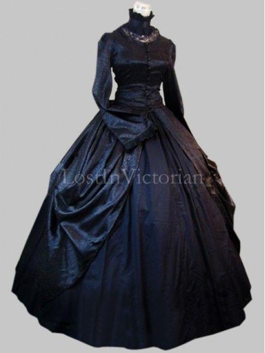 Historical Gothic Victorian Inspired Dress Ladies Halloween Costume ...