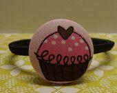 Sweet Pink Cupcake Ponytail Holder