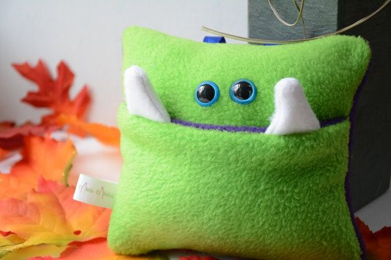 Green And Purple Tooth Fairy Monster Pillow On Etsy 16 50