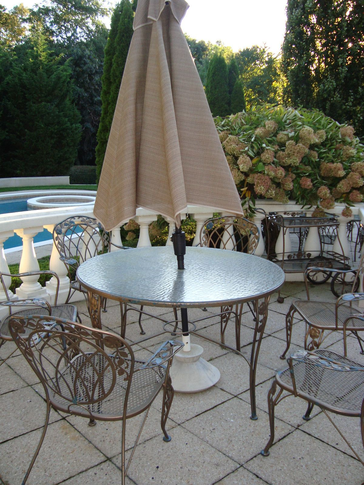 Meadowcraft Wrought Iron Outdoor Furniture Vintage
