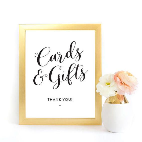 Cards And Gifts Sign Pdf Instant Download Wedding