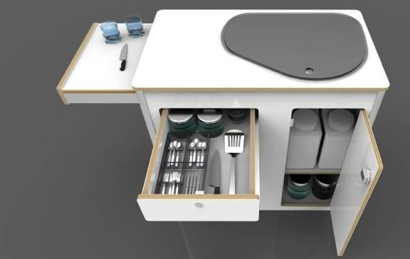 Diagram Modular Campervan Kitchens