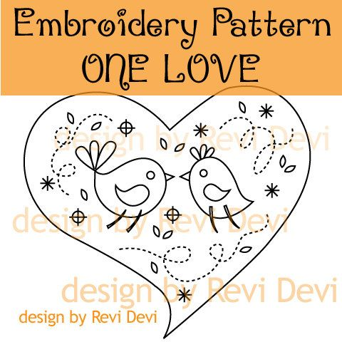 One Love Embroidery Pattern Pdf Download 15021 By Revidevi