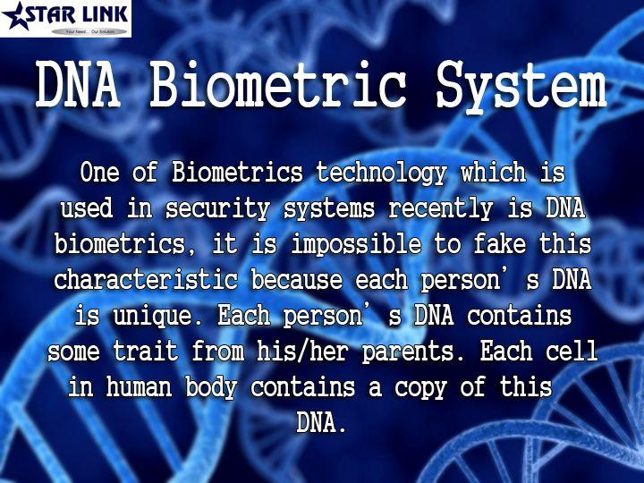 Dna Biometrics Biometric Security Solutions Pinterest