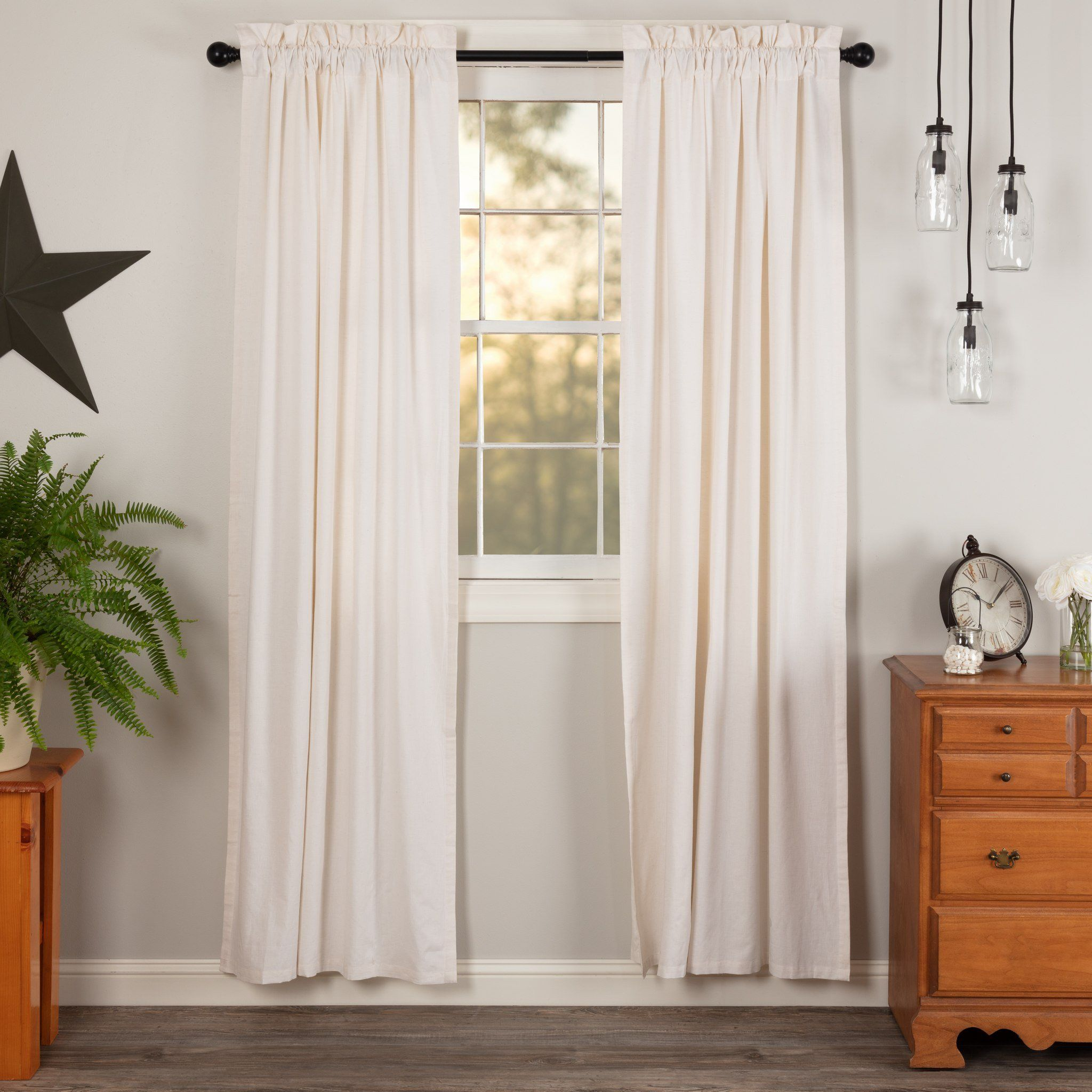 Simple Life Flax Antique White Lined Panel Curtains 84 White Paneling Farmhouse Curtains Panel Curtains