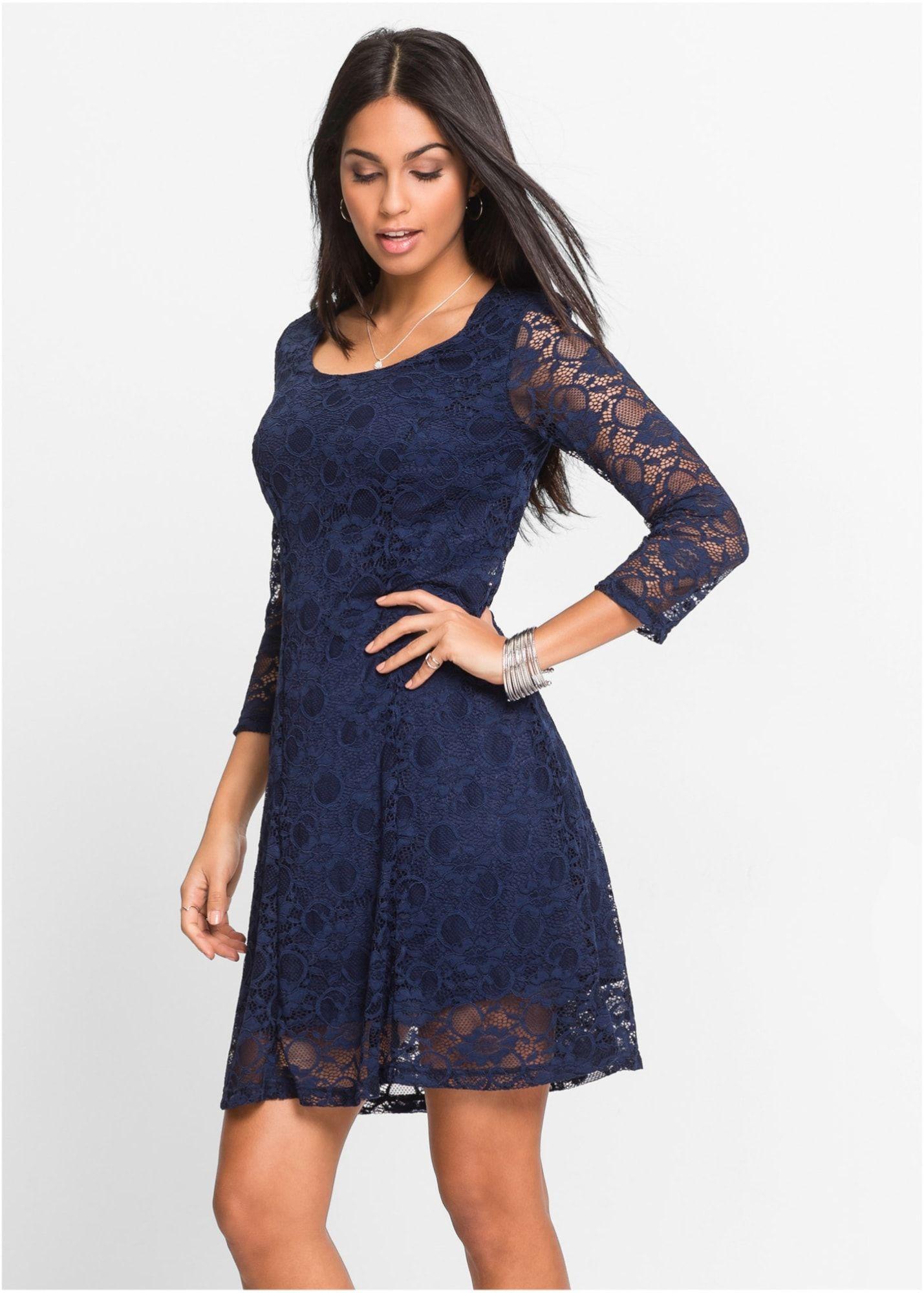 bonprix kleid damen, dunkelblau, größe 32/34 | kleider
