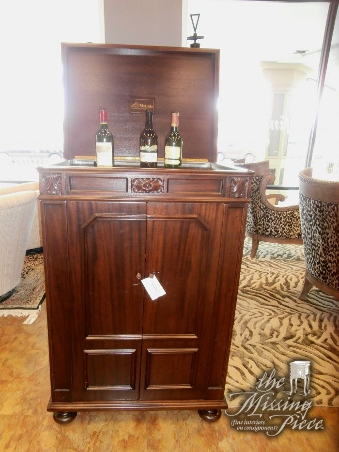 Old Victrola Cabinet Turned Secret Bar I Love It The Top Lifts To Wine And Bottom Hides Rest Measures 31x22x45