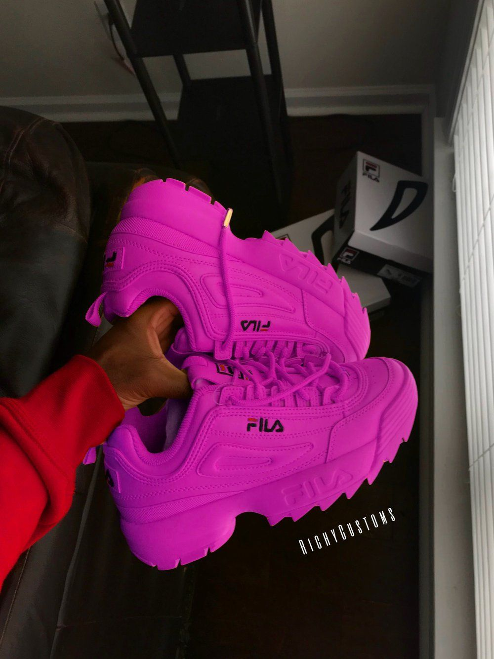 8bd3a815cda Image of Pinky FILA DISRUPTOR II💕 | Shoes in 2019 | Shoes, Fila ...