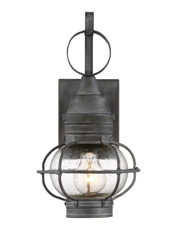 """Savoy House 5-220 Enfield Single Light 14-1/2"""" High 14-1/2"""" High Outdoor Wall Sc Oxidized Black Outdoor Lighting Wall Sconces"""