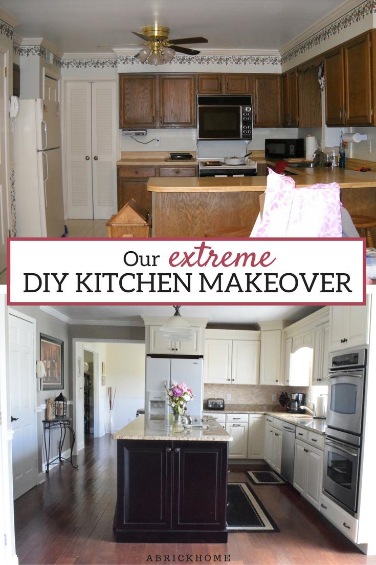 A brick home diy kitchen makeover kitchen makeover before and after kitchen makeover ideas kitchen remodel kitchen cabinets kitchen ideas