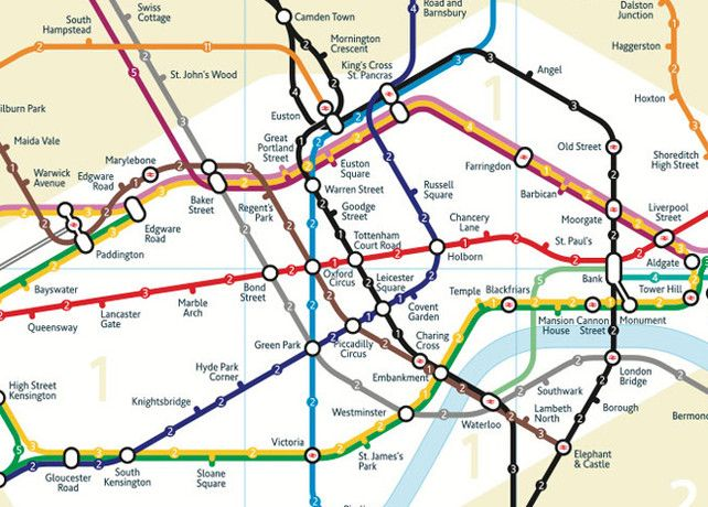 Infographic Of The Day The ReRedesigned London Tube Map  London