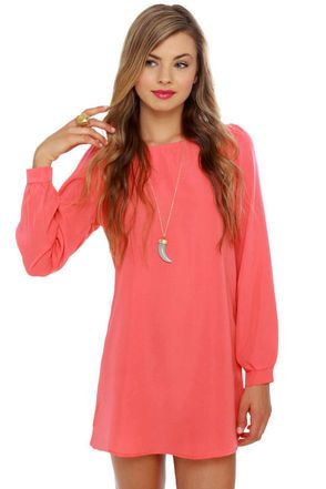 Nifty Shifty Coral Shift Dress | Products, Dresses. and Shifty