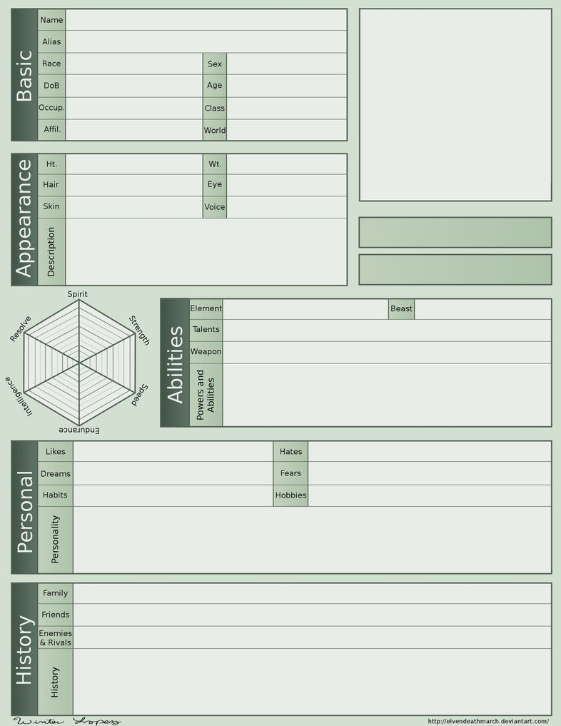 Worksheets Character Profile Worksheet character profile 2 0 by elvendeathmarch behavior management elvendeathmarch