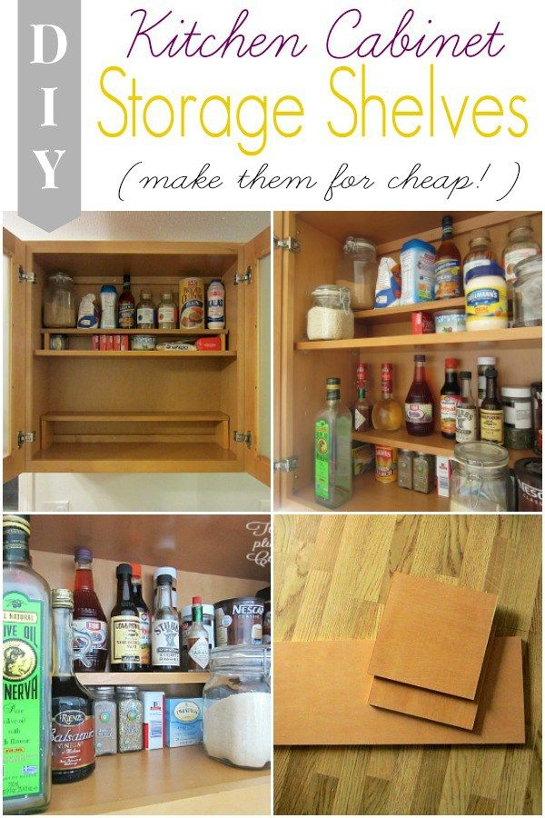 Adding Half Shelves in our Kitchen Cabinet (for cheap ...