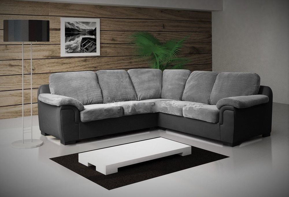 Details About New Luxury Amy Jumbo Cord Fabric Corner Sofa 5 Seater Sofa Grey Black With Images Furniture 5 Seater Sofa Sofa Furniture