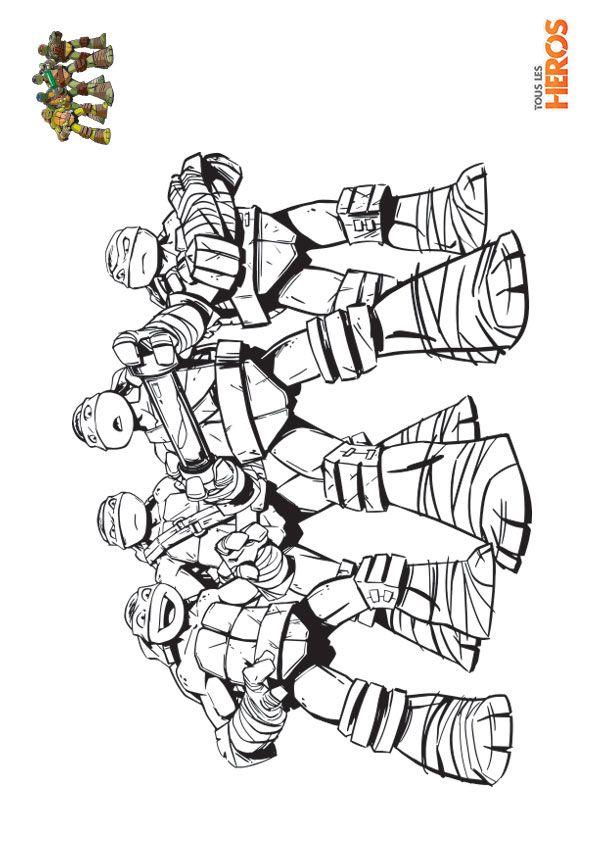 Coloriage Tortues Ninja : imprimez gratuitement sur notre ...