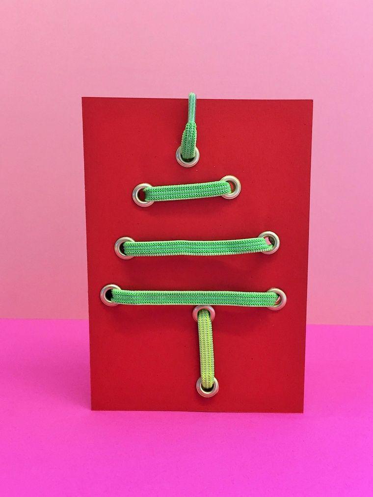 Kreative Weihnachtskarten.Kreative Weihnachtskarten Mit Coolen Schnürsenkeln Weitere Ideen
