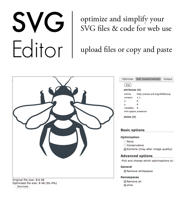 SVG Editor by Peter Collingridge // simplify and optimise