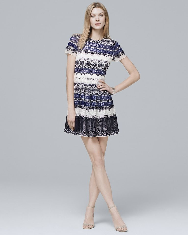 c84c4100afd Women s Monique Lhuillier Lace Fit-and-Flare Dress by White House Black  Market