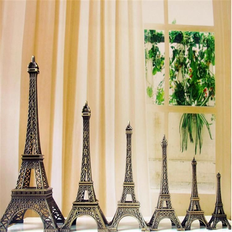 $1.29 - Bronze Tone Paris Eiffel Tower Figurine Statue Vintage Model ...