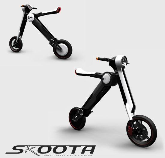 skoota portable electric scooter allows zero emission. Black Bedroom Furniture Sets. Home Design Ideas
