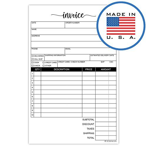 321Done 2-Part Carbonless Invoice Purchase Order Form 50 Sets Per - what is invoice po number