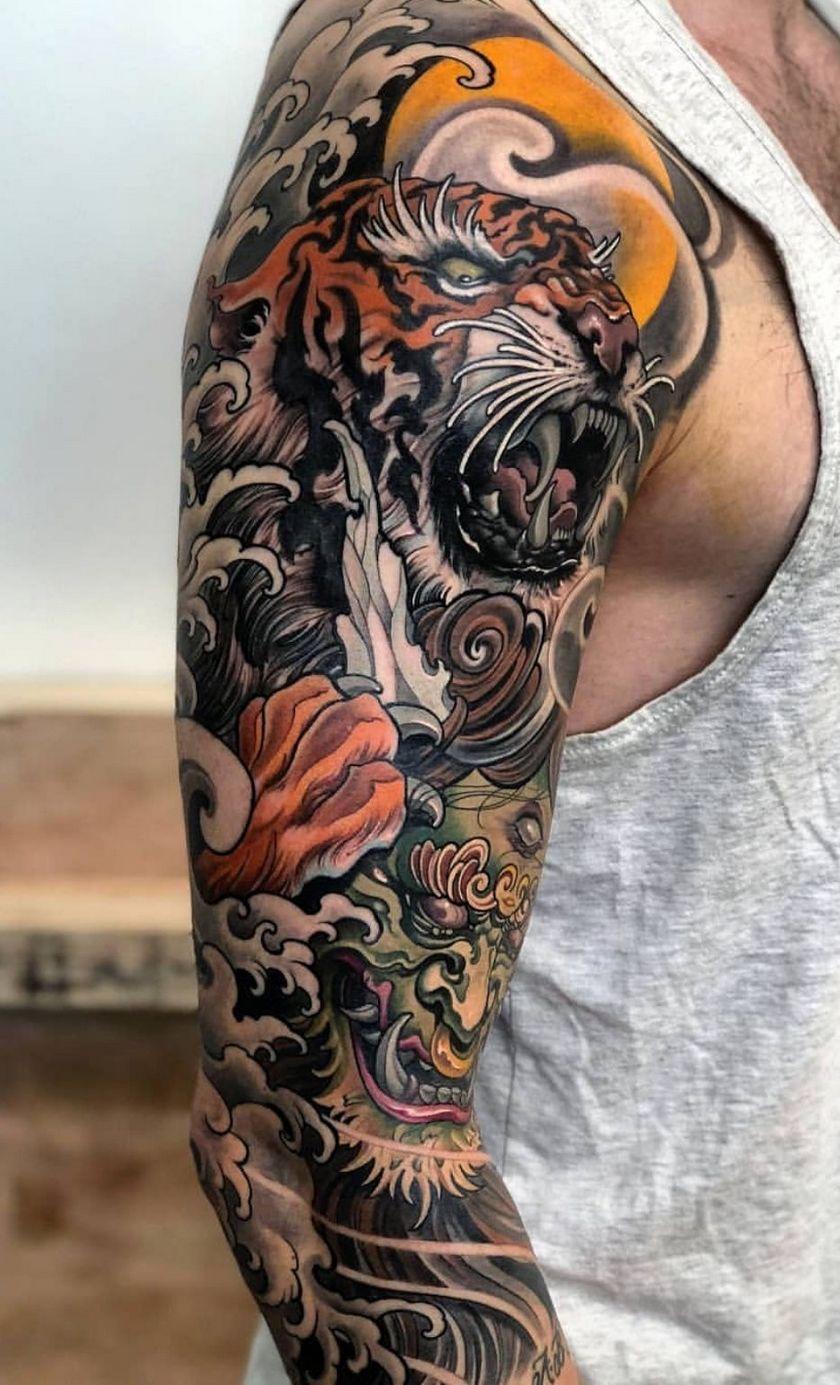 The 40 Best Half Sleeve Tattoos For Men Japanese Tattoos For Men Half Sleeve Tattoos For Guys Cool Half Sleeve Tattoos