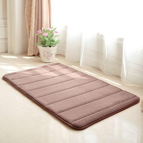 Bath Mat Memory Foam Rugs Cotton Bedroom Carpet Absorbent Non Slip Bathroom Mats 12 Colors