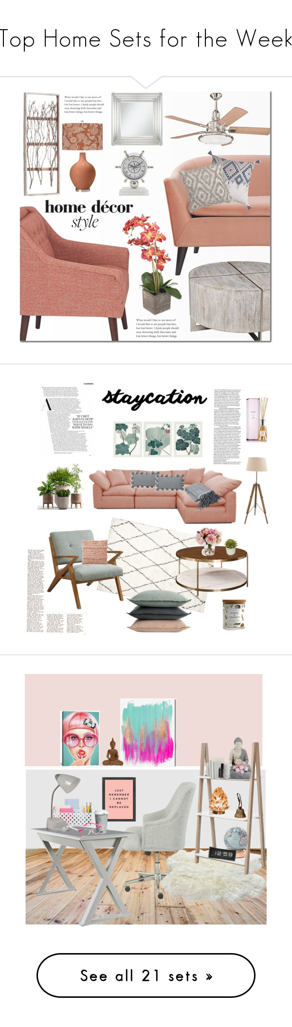 top home decor interior design.  Top Home Sets for the Week by polyvore liked on Polyvore featuring interior