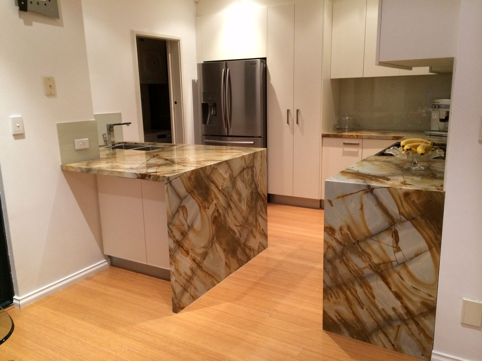 Roma Imperial  Exotic Quartzite Countertop With Waterfall