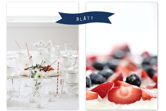Table setting for national day in Norway 17.may