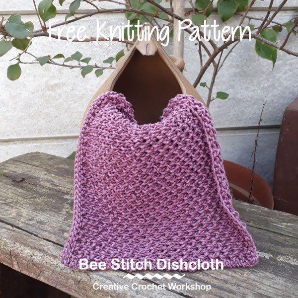Bee Stitch Dishcloth - Knitted Kitchen Blog Hop   Creative Crochet ...