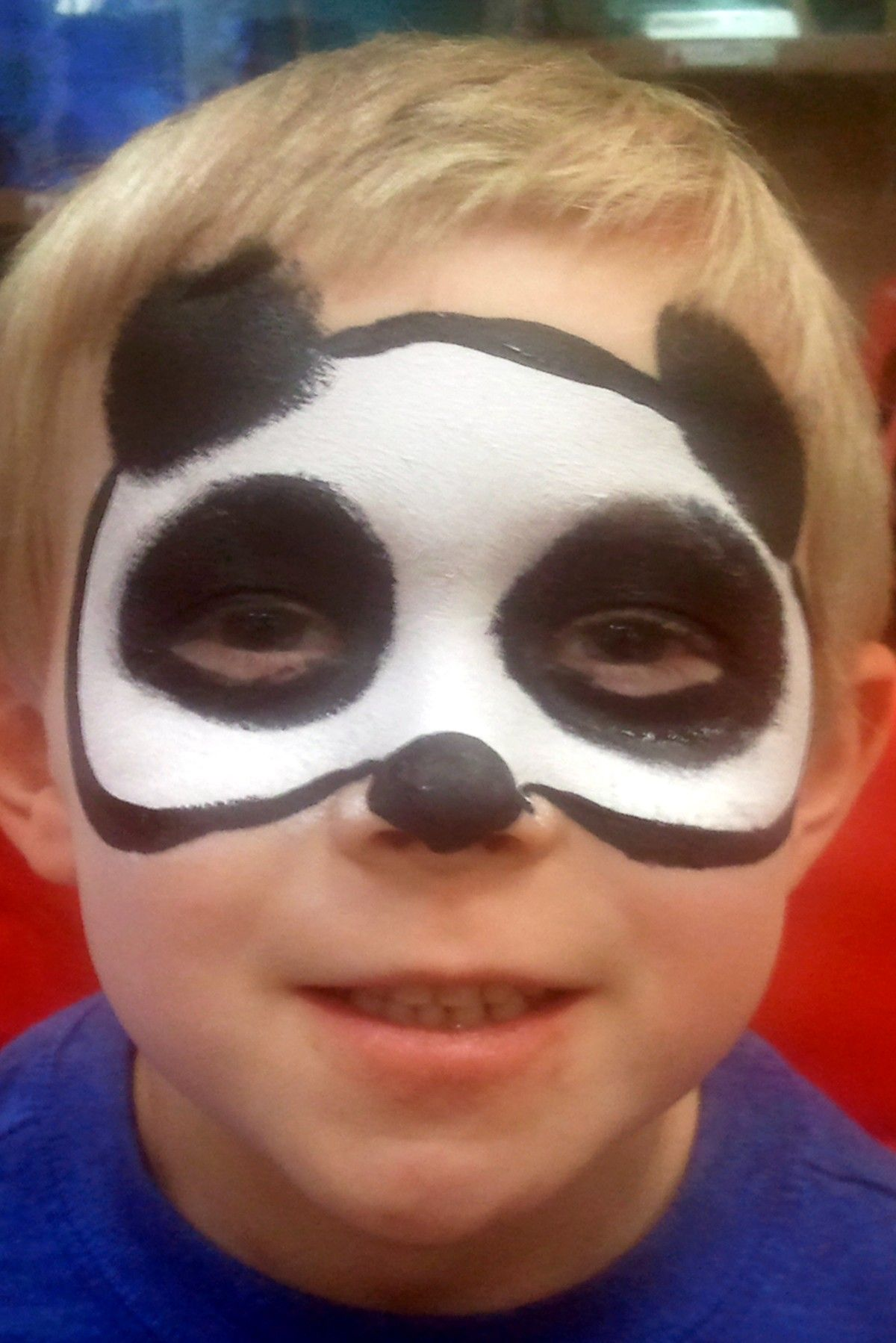 Panda Mask Face Painting by Clowning Around Asheville ...