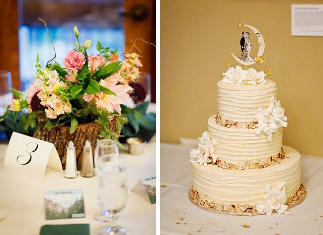 rustic wedding cake sequoia national park wedding