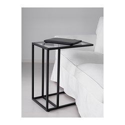 vittsj laptop stand black brown glass laptop stand glass and apartments. Black Bedroom Furniture Sets. Home Design Ideas