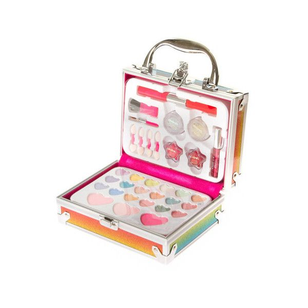 Rainbow Glitter Makeup Set ($30) ❤ liked on Polyvore featuring beauty products, makeup, dop kit, make up purse, purse makeup bag, toiletry bag and travel toiletry case