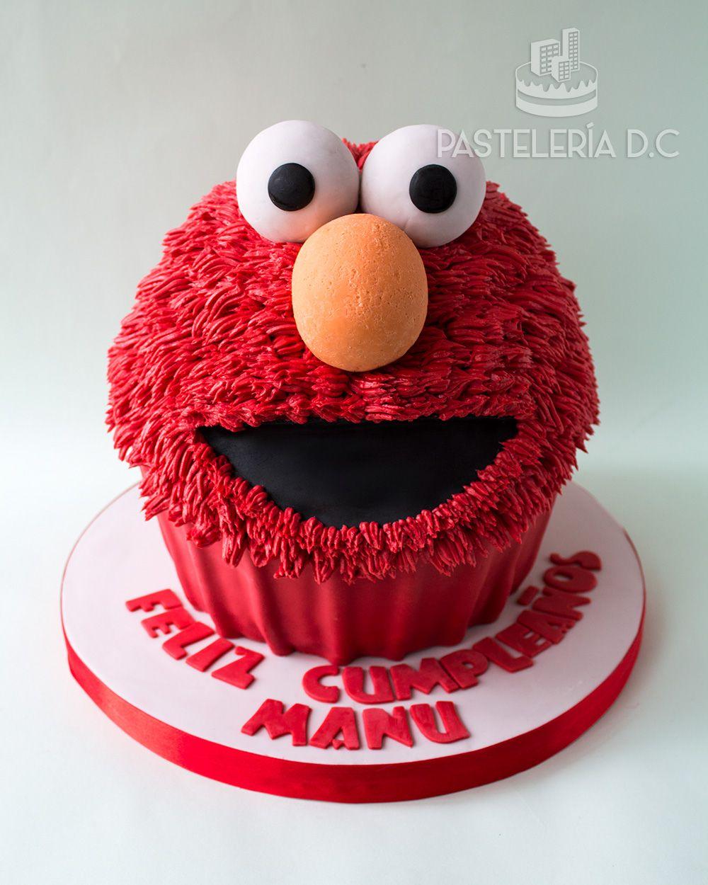 Torta Esculpida Tipo Cupcake Gigante De Elmo Elmo Giant