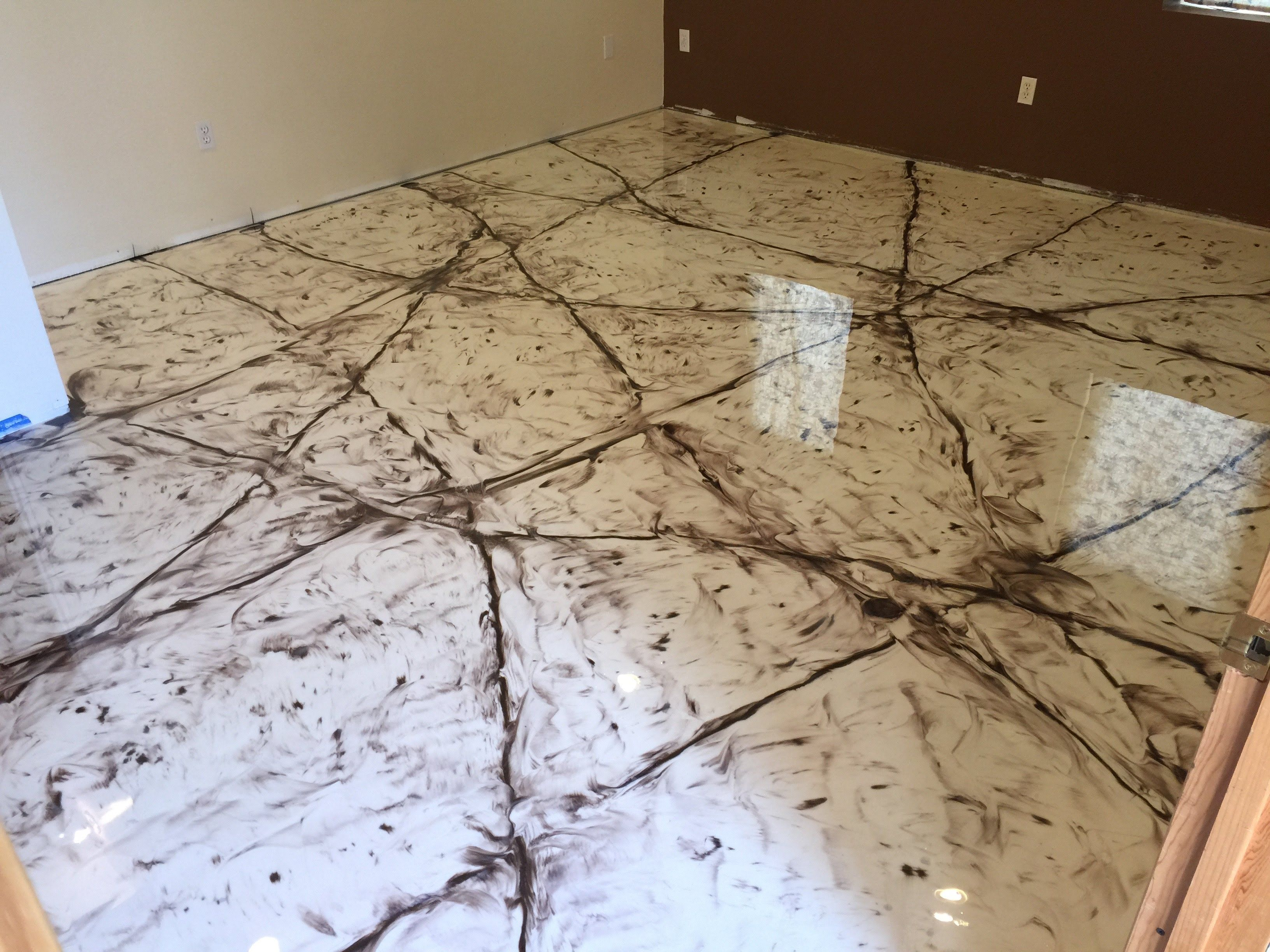 marble floor in metallic epoxy - youtube | radian creative