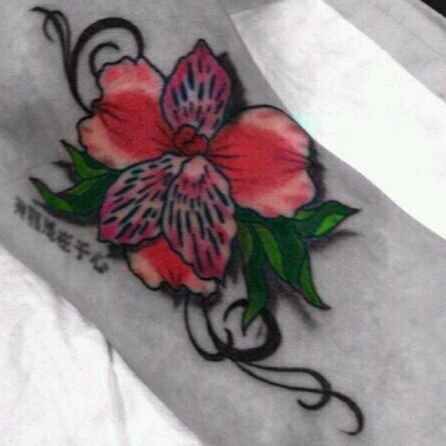 My Alstroemeria Flower Foot Tattoo My Favorite One Yet Flower Foot Tattoo Foot Tattoo Tattoos
