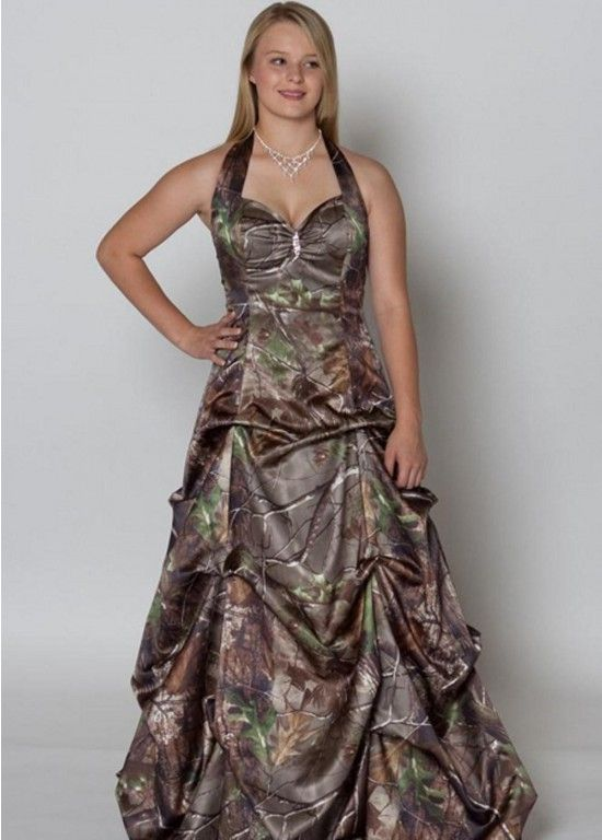 Muti Color Spaghetti Straps Sweetheart Cheap Camo Wedding Dresses