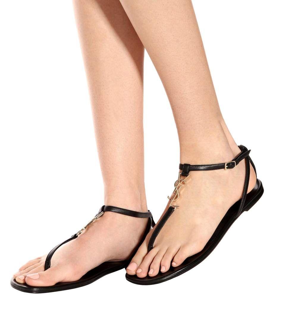 8cd44c4b766 Saint Laurent - Nu Pieds 05 YSL leather sandals