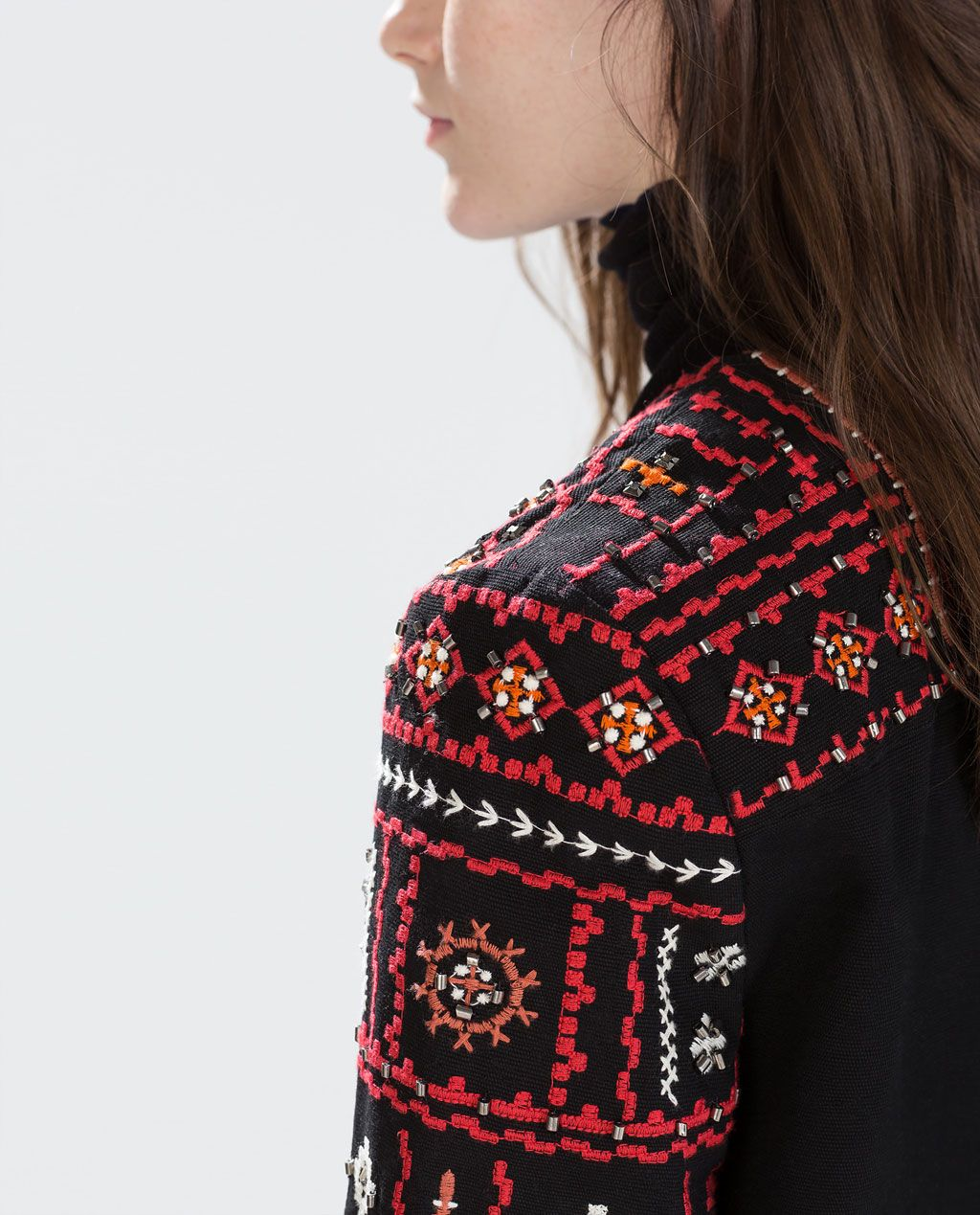 77ba7a35 Image 6 of ETHNIC EMBROIDERED JACKET from Zara | jan 16 in 2019 ...