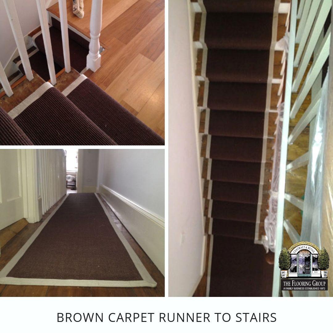Stairs & Landings Stair landing, Stairs, Brown carpet