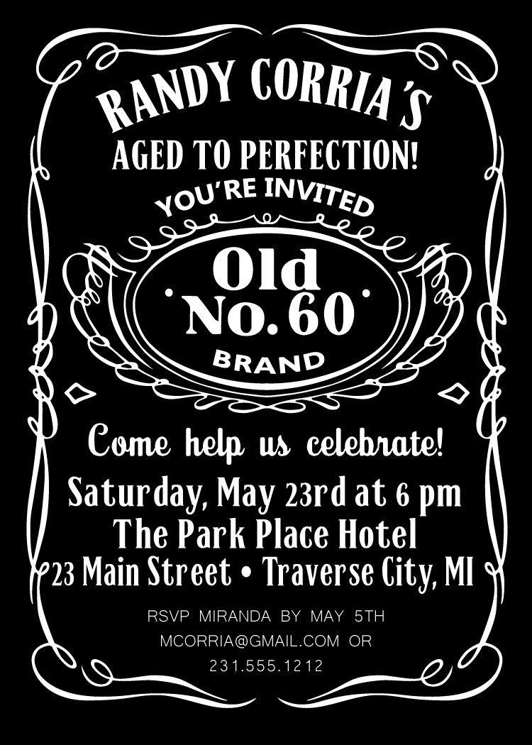 Whiskey Birthday Invitation Jack Daniels Birthday Jack Daniels - Party invitation template: masquerade party invitation template